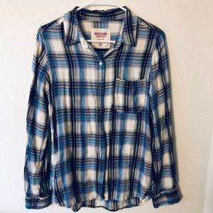 Mossimo Plaid Button Down Shirt Size Medium